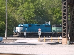 EMDX 781 leads an EB doublestack switcher at 10:09am