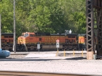 BNSF 5081 #2 power in an EB piggy-back at 10:20am