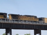 UP 6155 #2 power in an EB coal train at 10:23am