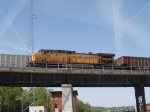UP 7090 rear DPU in a WB coal train at 10:36am