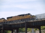 UP 4098 leads a WB coal train at 11:07am