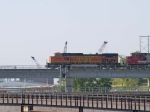 BNSF 5442 leads a WB doublestack at 6:17pm