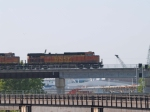 BNSF 4107 leads an EB doublestack at 6:22pm
