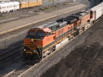 BNSF 1114 leads a WB piggy-back at 6:49pm