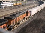 BNSF 7514 #2 power in a WB piggy-back at 6:49pm