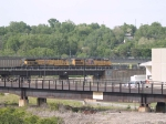 UP 5907 and UP 7394 lead an EB coal train at 5:02pm