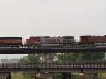 BNSF 696 #2 power in a EB piggy-back at 5:38pm