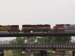 BNSF 342 #3 power in a EB piggy-back at 5:38pm