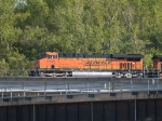 BNSF 7575 leads an EB doublestack/piggyback at 5:48pm