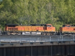 BNSF 5104 #2 power in an EB doublestack/piggyback at 5:48pm