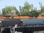 BNSF 5305 #2 power in an EB doublestack/piggyback at 5:56pm