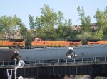 BNSF 4397 #3 power in an EB doublestack/piggyback at 5:56pm