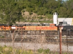 BNSF 5642 #2 power in a NB manifest at 6:45pm