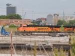 BNSF 5945 leads a NB coal train at 3:55pm