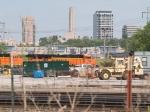 BNSF 5964 leads a SB coal train at 4:03pm
