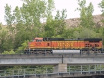 BNSF 5365 leads an EB manifest at 4:16pm