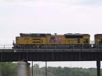 UP 8419 leads an EB grain train at 4:24pm