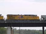 UP 7836 #3 power in an EB grain train at 4:24pm