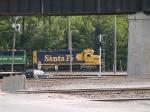 BNSF 2477 leads a SB grain train at 4:55pm