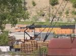 BNSF 9927 leads a NB coal train at 5:26pm
