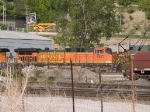 BNSF 5677 leads a SB coal train at 5:47pm