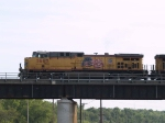 UP 5667 leads an EB coal train at 5:48pm