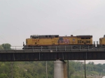 UP 5680 leads an EB coal train at 5:49pm