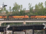 BNSF 5319 #2 power in a WB doublestack at 6:34pm