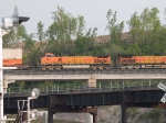 BNSF 5031 #3 power in a WB doublestack at 6:34pm