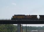 UP 5965 leads an EB grain train at 4:11pm