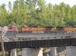BNSF 4057 #3 power in an EB piggyback at 4:34pm