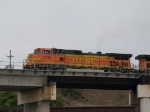 BNSF 5309 leads a WB doublestack at 9:28am