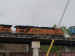 BNSF 7764 #2 power in a WB doublestack at 9:28am