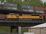 BNSF 8246 leads a WB coal train at 9:28am