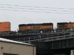 BNSF 338 #2 power in a WB doublestack at 10:13am