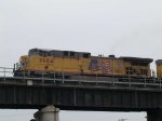 UP 5684 leads an EB coal train at 10:32am