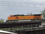 BNSF 4192 leads a WB doublestack at 11:41am