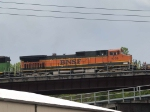 BNSF 1069 #3 power in a WB doublestack at 11:41am