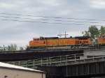 BNSF 4190 leads a WB doblestack at 12:01pm