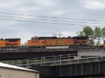 BNSF 4346 #2 power in a WB doublestack at 12:01pm