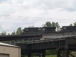 NS 7551 leads an EB grain train at 12:11pm