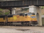UP 4058 leads a NB manifest at 1:02pm