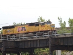 UP 5108 leads a WB coal train at 2:15pm
