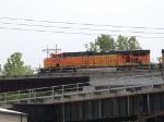 BNSF 7671 leads an EB grain train at 2:23pm