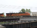 BNSF 7647 #2 power in an EB grain train at 2:23pm