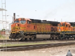 BNSF 4581 leads a SB manifest at 2:23pm