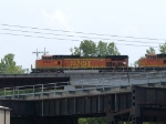 BNSF 4780 leads an EB doublestack at 2:37pm