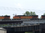 BNSF 5074 #2 power in an EB doublestack at 2:37pm