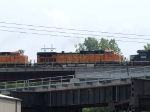BNSF 4032 #4 power in an EB doublestack at 2:37pm