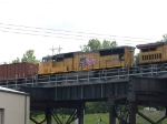 UP 4780 #2 power in a WB coal train at 3:05pm